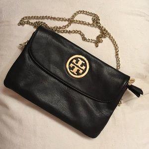 Handbags - Black leather crossbody bag